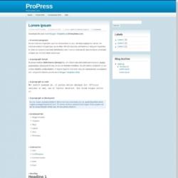 ProPress Blogger Template