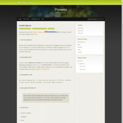 Prowess Blogger Template