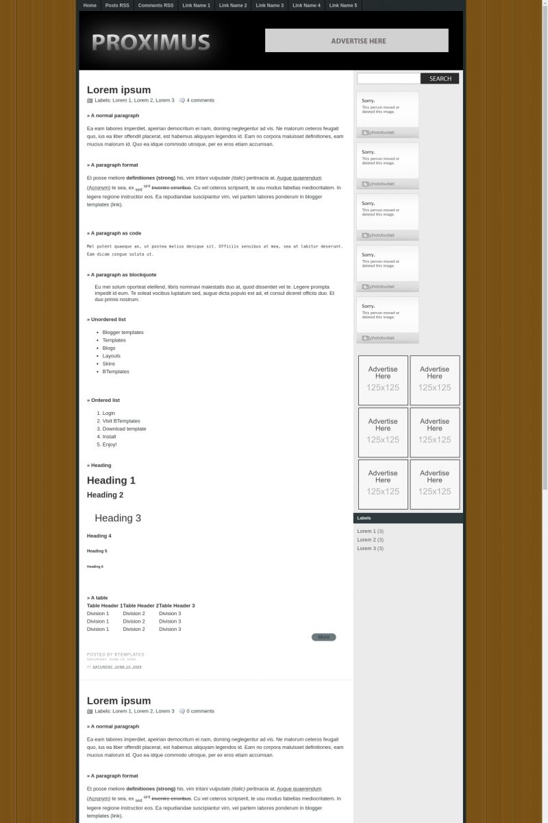 Download Proximus Blogger Template