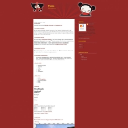 Pucca Blogger Template