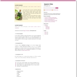Quick Chic Blogger Template