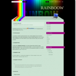 Rainboow Blogger Template