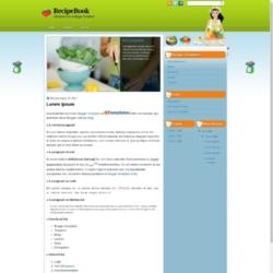 RecipeBook Blogger Template