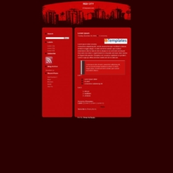 Red City Blogger Template