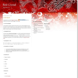 Red Crystal Blogger Template