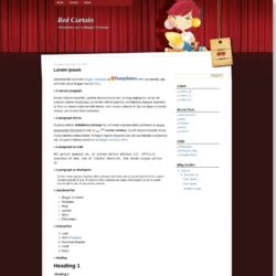 Red Curtain Blogger Template