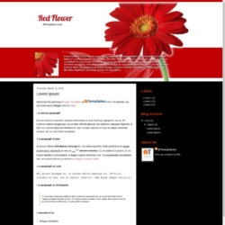 Red Flower Blogger Template