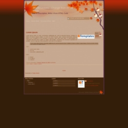 Red Leaves Blogger Template