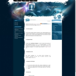 Red Light Physics Blogger Template