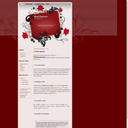 Red Passion Blogger Template
