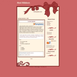 Red Ribbon Blogger Template
