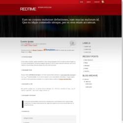 RedTime Blogger Template