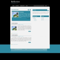 Reflection Blogger Template