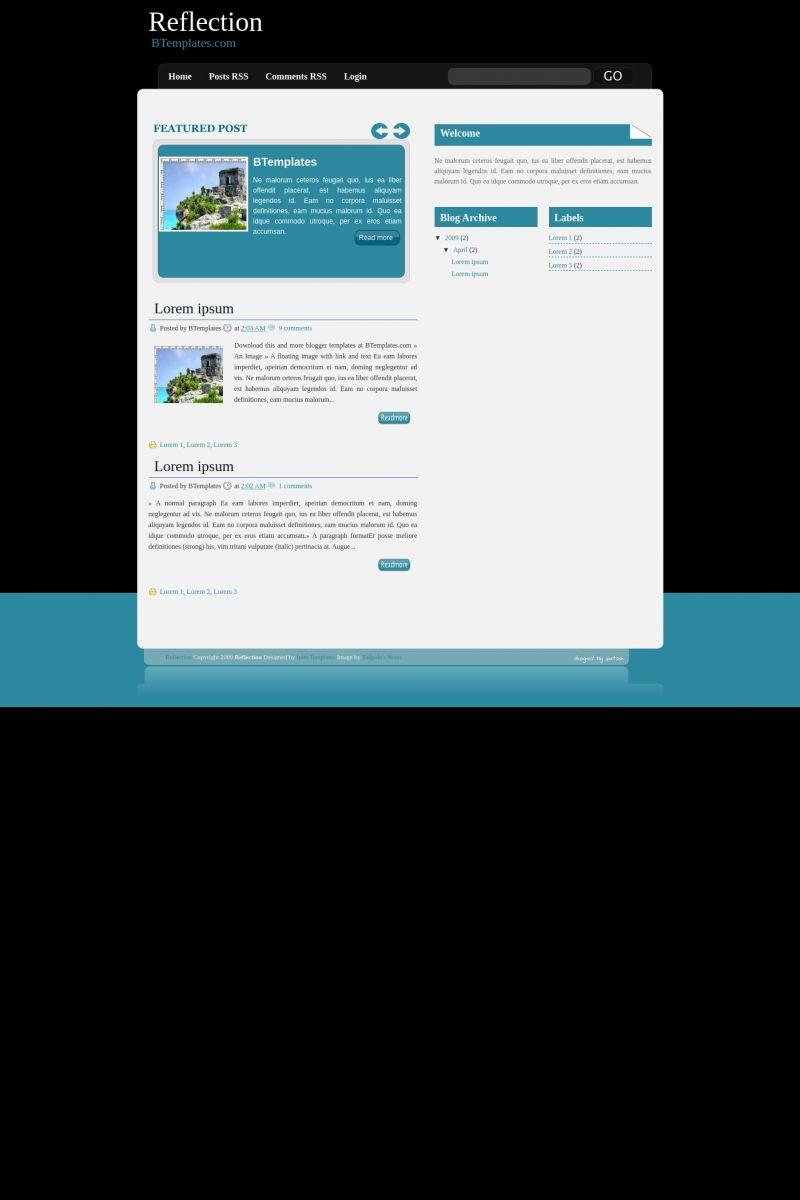 Download Reflection Blogger Template