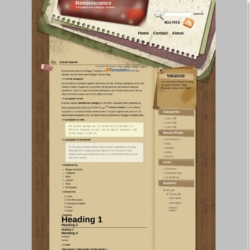 Reminiscence Blogger Template