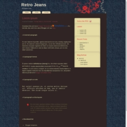 Retro Jeans Blogger Template