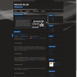 Revive Blue Blogger Template