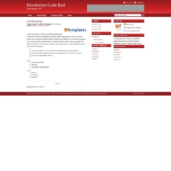 Revolution Code Red Blogger Template