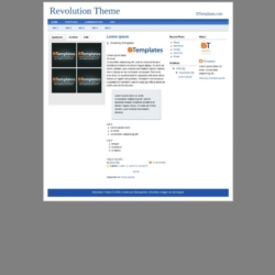 Revolution Theme Blogger Template
