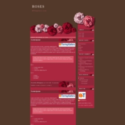 Roses Blogger Template