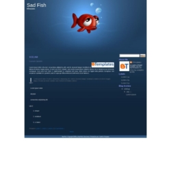 Sad Fish Blogger Template