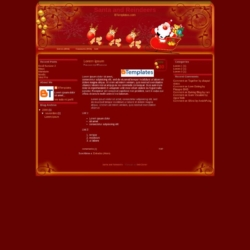 Santa and Reindeers Blogger Template