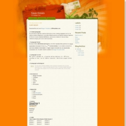 Save Green Blogger Template
