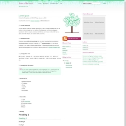 SB Curly Green Blogger Template
