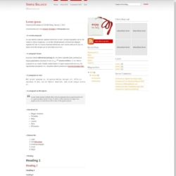 SB Silver Red Blogger Template