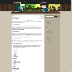School Times Blogger Template