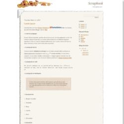 Scrapbook Blogger Template