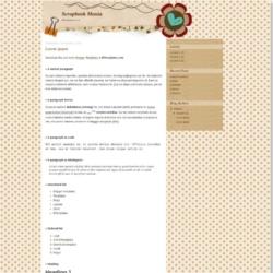 Scrapbook Mania Blogger Template