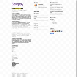 Scrappy Blogger Template