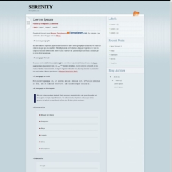 Serenity Blogger Template