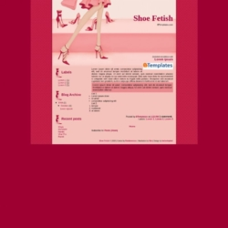 Shoe Fetish Blogger Template