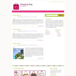 Shopping Bag Blogger Template