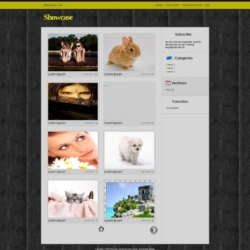 Showcase Blogger Template