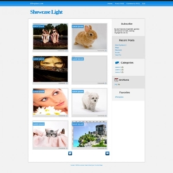 Showcase Light Blogger Template