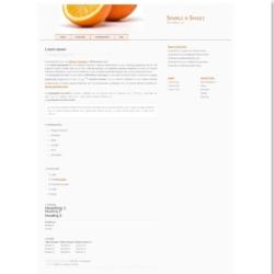 Simple n Sweet Blogger Template