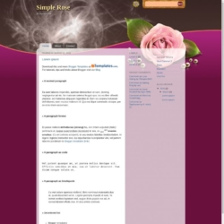Simple Rose Blogger Template