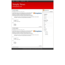 Simply News Blogger Template