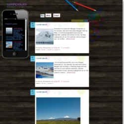 Simposium Blogger Template