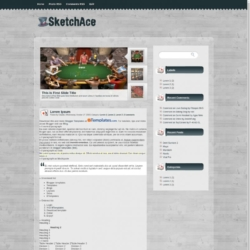 Sketch Ace Blogger Template