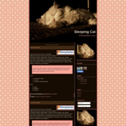 Sleeping Cat Blogger Template