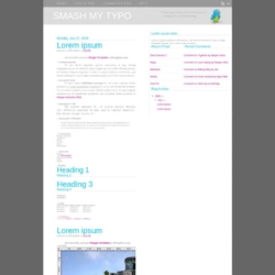 Smash My Typo Blogger Template