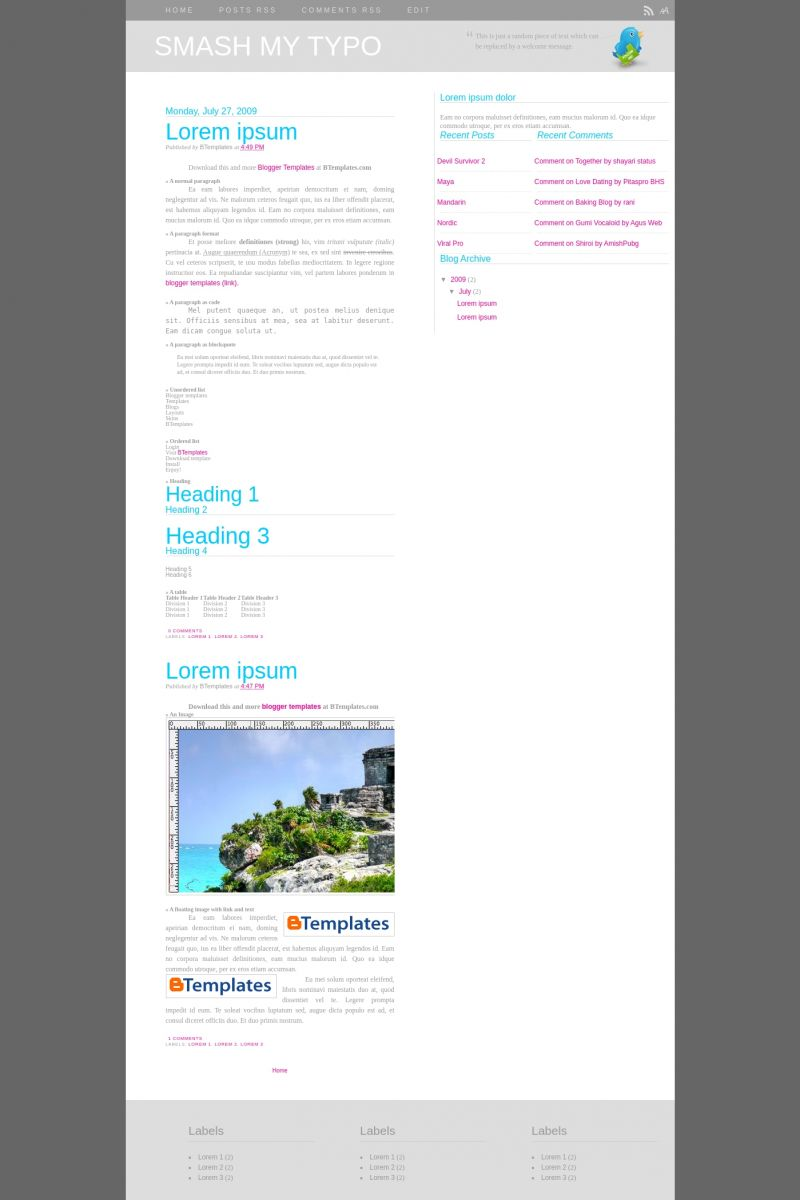 Download Smash My Typo Blogger Template