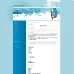 Snowboarder Blogger Template