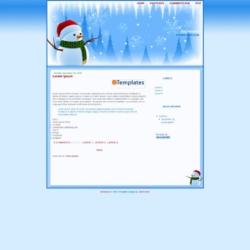 Snowman Blogger Template