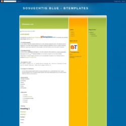 SoSuechtig Blue Blogger Template