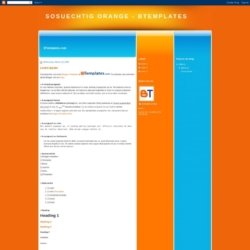SoSuechtig Orange Blogger Template